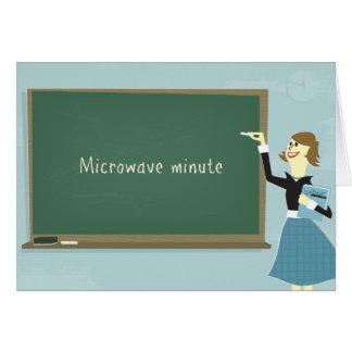 Microwave Minute Greeting Card
