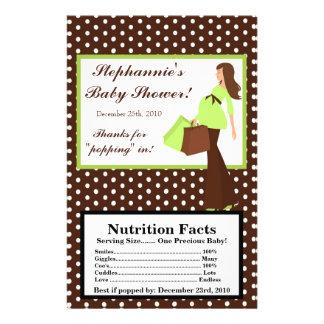 Microwave Popcorn Wrapper Green Mod Mom Polka Dots Flyer Design