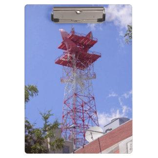 Microwave Relay Radio Telecom Tower Clipboard