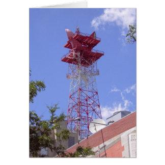 Microwave Relay Radio Telecom Tower Greeting Card