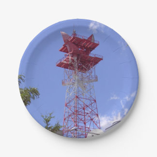 Microwave Relay Radio Telecom Tower Paper Plate