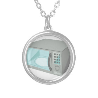 Microwave Round Pendant Necklace