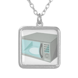 Microwave Square Pendant Necklace