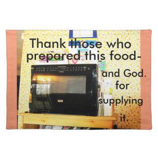 """Microwave"" table place mat. Place Mat"