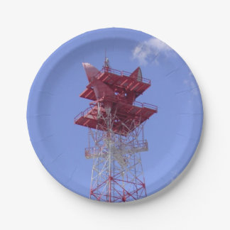 Microwave Telecommunications Tower Paper Plate