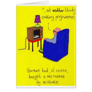 Microwave TV Joke Card