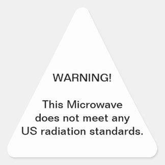 Microwave Warning Triangle Sticker