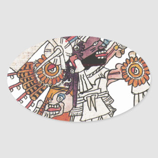 Mictlantecuhtli Oval Sticker
