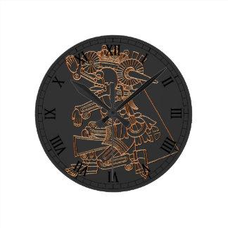 Mictlantecuhtli Round Clock