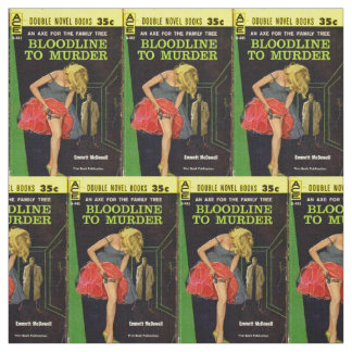 mid-1950s Bloodline to Murder pulp cover Fabric