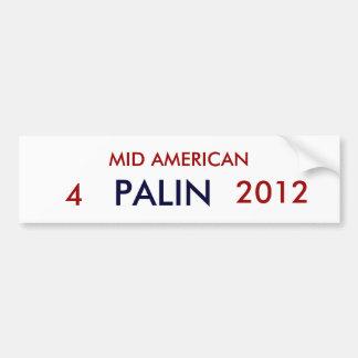 MID AMERICAN, PALIN, 4, 2012 CAR BUMPER STICKER