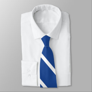 Mid-Blue and White University Stripe Tie