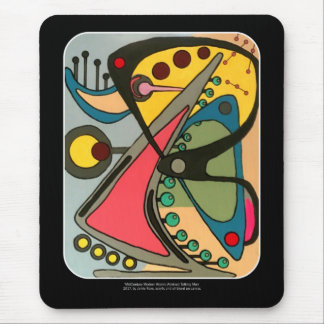 Mid-Century Abstract Talking Man painting on a Mouse Pad