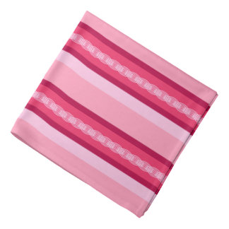 Mid-Century Awning Stripes,Pink and Wine Kerchiefs