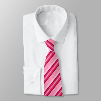 Mid-Century Awning Stripes,Pink and Wine Tie