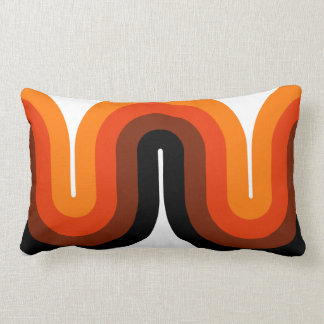 Mid Century Curves Throw Pillow Lumbar 13x21