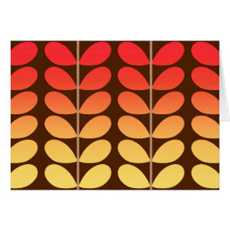 Mid Century Danish Leaves, Brown, Orange & Gold Card