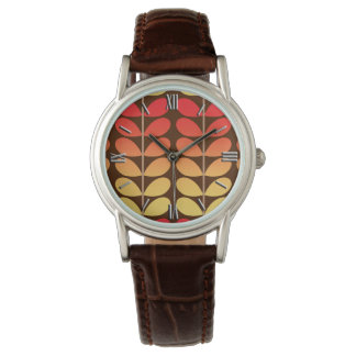 Mid Century Danish Leaves, Brown, Orange & Gold Watch