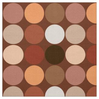Mid-Century Giant Dots, Chocolate Brown & Tan Fabric