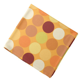 Mid-Century Giant Dots, Mustard Gold and Brown Bandana