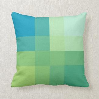Mid-Century mega plaid - jade green Cushion
