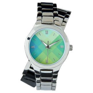 Mid-Century mega plaid - jade green Watch