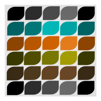 Mid-Century Modern Abstract #58 Poster