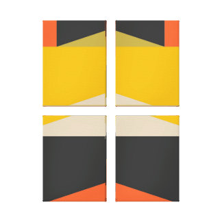 Mid Century Modern Abstract Art Geometric Shapes Canvas Print