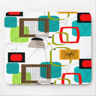 Mid-Century Modern Abstract Design Mouse Pad