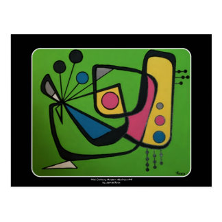 'Mid Century Modern Abstract num 4' on a Postcard