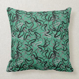 Mid-Century Modern Aqua Boomerang Patterns | Retro Cushion