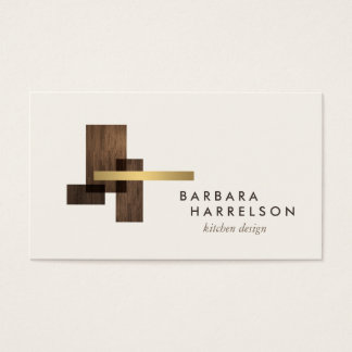 Mid-Century Modern Architectural Logo II on Ivory