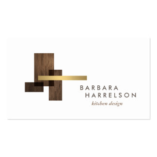 Mid-Century Modern Architectural Logo II on White Pack Of Standard Business Cards