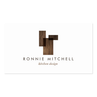 Mid-Century Modern Architectural Logo on White Pack Of Standard Business Cards