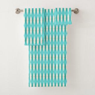 Mid Century Modern Argyle Towel Set