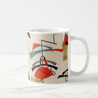 Mid Century Modern Atomic Fabric Coffee Mug