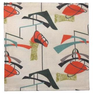 Mid Century Modern Atomic Fabric Napkins
