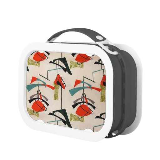 Mid Century Modern Atomic Mobile Lunchbox Lunch Boxes