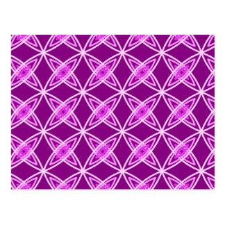 Mid Century Modern Atomic Print - Amethyst Purple Postcards