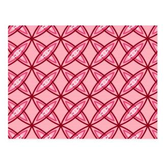 Mid Century Modern Atomic Print - Ballet Pink Post Cards