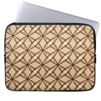 Mid Century Modern Atomic Print - Camel Tan Laptop Sleeve