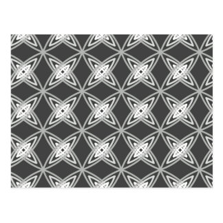 Mid Century Modern Atomic Print - Charcoal Gray Postcards