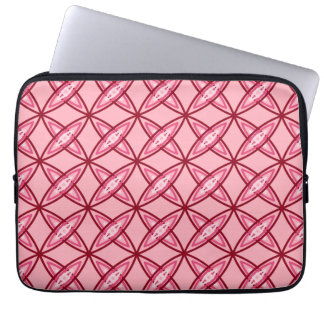 Mid Century Modern Atomic Print - Coral Pink Laptop Sleeve