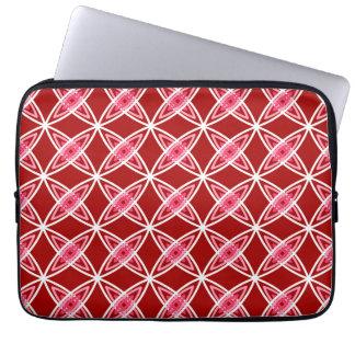 Mid Century Modern Atomic Print - Dark Red Laptop Sleeve