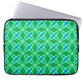 Mid Century Modern Atomic Print - Jade Green Laptop Sleeve