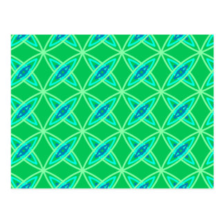 Mid Century Modern Atomic Print - Jade Green Postcard
