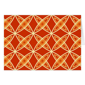 Mid Century Modern Atomic Print - Mandarin Orange Card