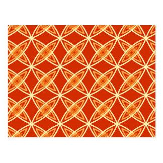 Mid Century Modern Atomic Print - Mandarin Orange Postcard