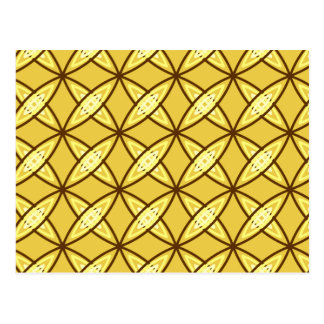 Mid Century Modern Atomic Print - Mustard Gold Postcard