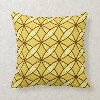 Mid Century Modern Atomic Print - Mustard Gold Throw Pillow